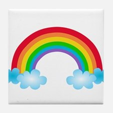 Rainbow & Clouds Tile Coaster