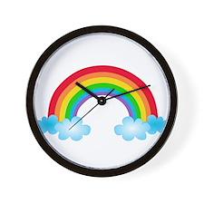 Rainbow & Clouds Wall Clock