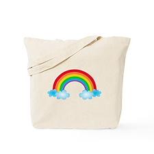 Rainbow & Clouds Tote Bag