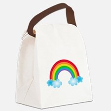 Rainbow & Clouds Canvas Lunch Bag
