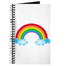 Rainbow & Clouds Journal