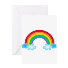 Rainbow & Clouds Greeting Card