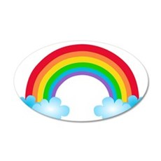 Rainbow & Clouds Wall Decal