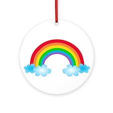 Rainbow & Clouds Ornament (Round)