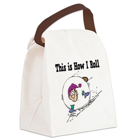 How I Roll (Snowball) Canvas Lunch Bag