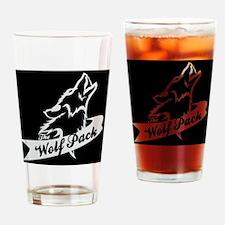 Black w0lfpack logo Drinking Glass