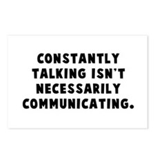 Constantly talking... Postcards (Package of 8)