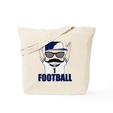 Football blue Tote Bag