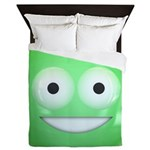 Candy Smiley - Green Queen Duvet