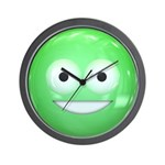 Candy Smiley - Green Wall Clock