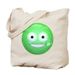 Candy Smiley - Green Tote Bag