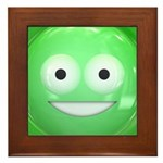 Candy Smiley - Green Framed Tile