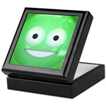 Candy Smiley - Green Keepsake Box