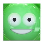 Candy Smiley - Green Tile Coaster