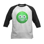 Candy Smiley - Green Kids Baseball Jersey