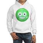 Candy Smiley - Green Hooded Sweatshirt
