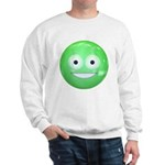 Candy Smiley - Green Sweatshirt