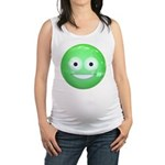 Candy Smiley - Green Maternity Tank Top