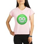 Candy Smiley - Green Performance Dry T-Shirt
