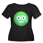 Candy Smiley - Green Women's Plus Size Scoop Neck