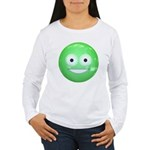 Candy Smiley - Green Women's Long Sleeve T-Shirt