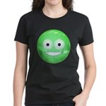 Candy Smiley - Green Women's Dark T-Shirt