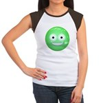 Candy Smiley - Green Women's Cap Sleeve T-Shirt