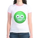 Candy Smiley - Green Jr. Ringer T-Shirt