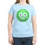 Candy Smiley - Green Women's Light T-Shirt