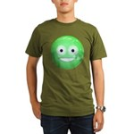 Candy Smiley - Green Organic Men's T-Shirt (dark)