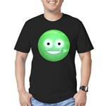 Candy Smiley - Green Men's Fitted T-Shirt (dark)