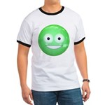 Candy Smiley - Green Ringer T