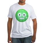 Candy Smiley - Green Fitted T-Shirt