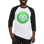 Candy Smiley - Green Baseball Jersey