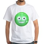 Candy Smiley - Green White T-Shirt