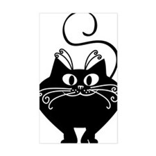 grinning fat black cat Decal