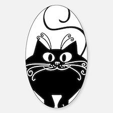grinning fat black cat Bumper Stickers