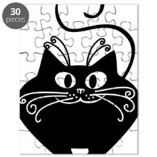 grinning fat black cat Puzzle
