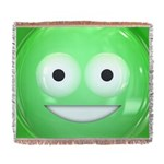 Candy Smiley - Green Woven Blanket