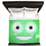 Candy Smiley - Green King Duvet