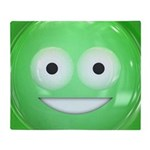 Candy Smiley - Green Throw Blanket