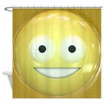 Candy Smiley - Yellow Shower Curtain