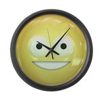 Candy Smiley - Yellow Large Wall Clock