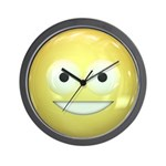 Candy Smiley - Yellow Wall Clock