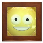 Candy Smiley - Yellow Framed Tile