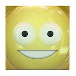 Candy Smiley - Yellow Tile Coaster