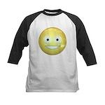 Candy Smiley - Yellow Kids Baseball Jersey