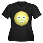 Candy Smiley - Yellow Women's Plus Size V-Neck Dar