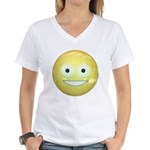Candy Smiley - Yellow Women's V-Neck T-Shirt