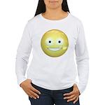 Candy Smiley - Yellow Women's Long Sleeve T-Shirt